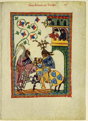 Count Friedrich II von Leiningen (From the Codex Manesse)