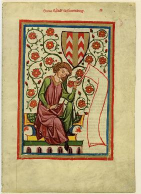 Rudolf II of Fenis (From the Codex Manesse)