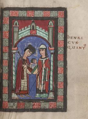 Emperor Henry V and Matilda of England at the Wedding Feast in Mainz on 7 January 1114