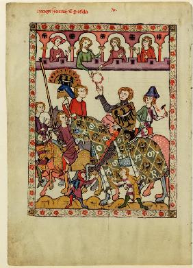 Henry IV Probus, Duke of Silesia-Wroclaw (From the Codex Manesse)