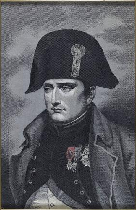 Silk Weaving Portrait of Emperor Napoléon I Bonaparte (1769-1821)