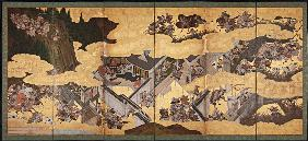 Battle scenes from the Tale of Heike (Heike Monogatari)
