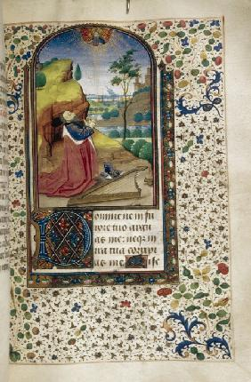 King David in prayer (Book of Hours)