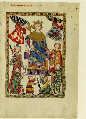 King Wenceslaus II of Bohemia (From the Codex Manesse)