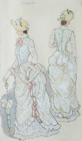 Costume design for the theatre play Dowerless Girl by A. Ostrovsky