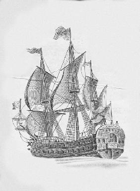 "Russian ship of the line ""Poltava"" (1712)"