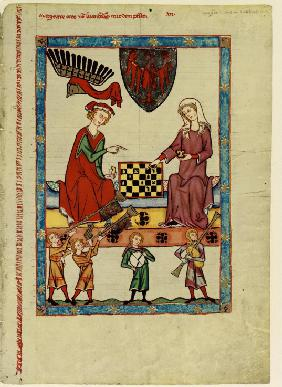 Margrave Otto IV of Brandenburg Playing Chess (From the Codex Manesse)