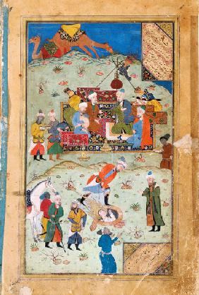 "Miniature from ""Yusuf and Zalikha"" (Legend of Joseph and Potiphar's Wife) by Jami"