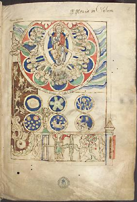 "Miniature ""Initium creaturae dei"" from Liber Scivias by Hildegard of Bingen"