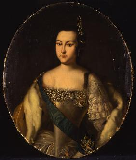 Portrait of Princess Anna Leopoldovna (1718-1746), tsar's Ivan VI mother