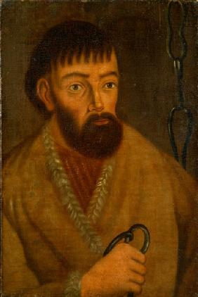 Portrait of the leader of a great Cossack insurrection Yemelyan I. Pugachev (c. 1742-1775)