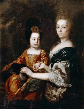 Portrait of the Tsar of Russia Ivan VI Antonovich (1740-1764) with lady-in-waiting Julia von Mengden