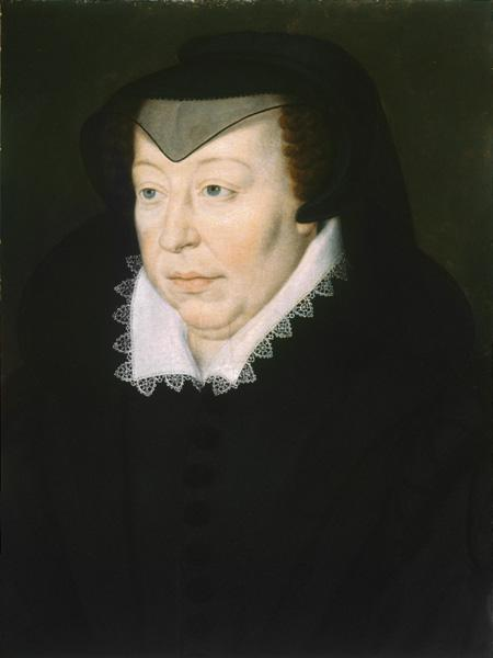 Portrait of Catherine de' Medici (1519-1589) Copy after François Clouet