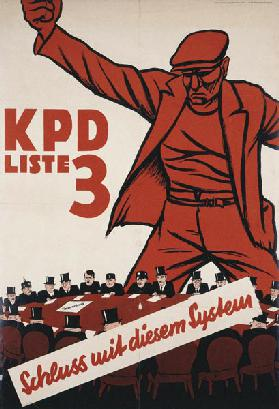 End of this system. KPD election poster