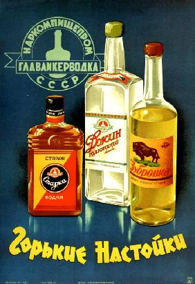 Advertising Poster for the Bitter liqueurs