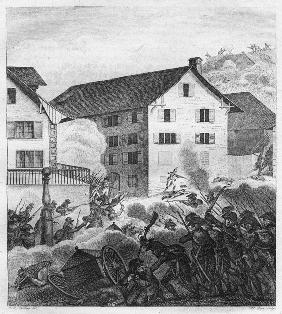 Second Battle of Zurich, Fighting scene at the Central
