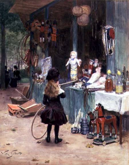 Image: Victor Gabriel Gilbert - At the Champs-Elysees Gardens