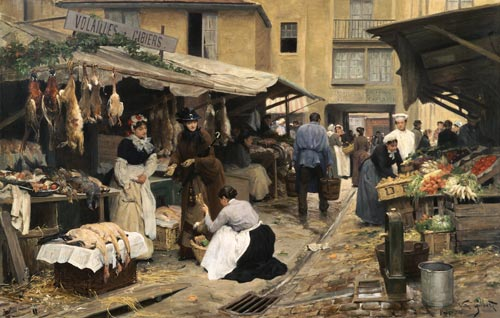 Image: Victor Gabriel Gilbert - Scene on a French market.