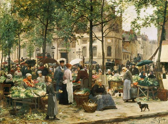 Image: Victor Gabriel Gilbert - The Square in front of Les Halles