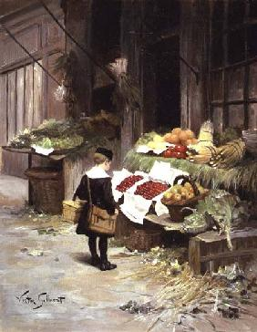 Gilbert, Victor Gabriel : Little Boy at the Market