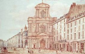 View of the Portal of the Church of Saint-Gervais, Paris  on