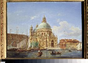 Views of Venice. The Santa Maria della Salute Church