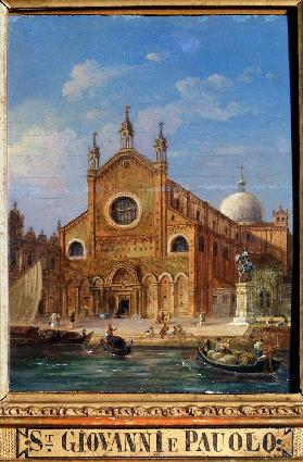 Views of Venice. The Santi Giovanni e Paolo (San Zanipolo) Church