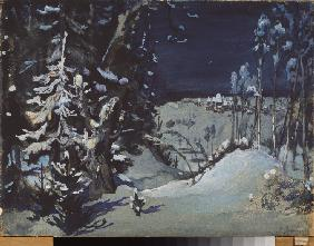 Stage design for the theatre play Snow Maiden by A. Ostrovsky