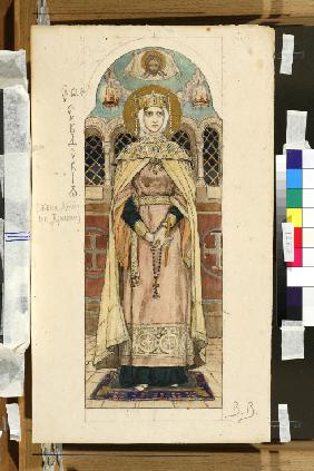 Eudoxia of Moscow (Study for frescos in the St Vladimir's Cathedral of Kiev)