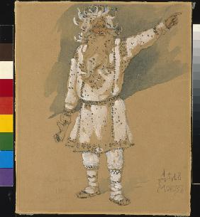 "Grandfather Frost. Costume design for the opera ""Snow Maiden"" by N. Rimsky-Korsakov"
