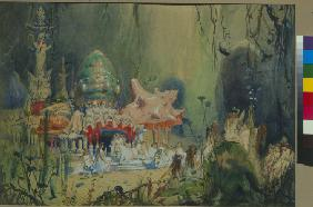 Underwater Kingdom. Stage design for the opera Rusalka by A. Dargomyzhsky