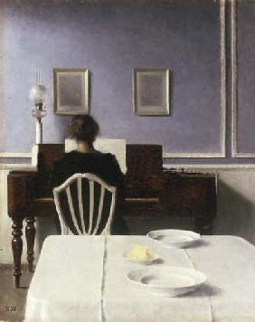 Interior with a Girl at the Piano