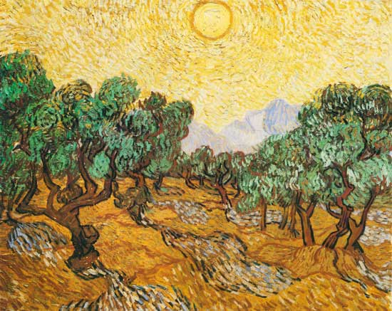 Image: Vincent van Gogh - Olive Trees with Yellow Sky and Sun