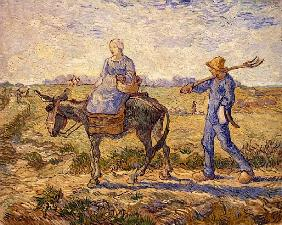 Morning, going out to work, 1888 (w/c & ink on paper)