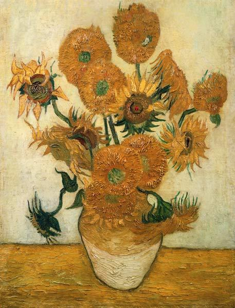 Fourteen Sunflowers in a Vase