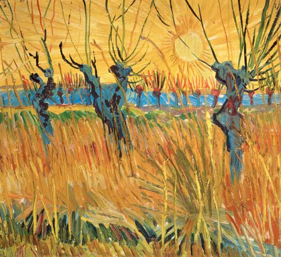 Image: Vincent van Gogh - Pollarded Willows and Setting Sun