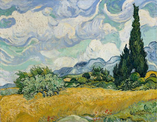 Image: Vincent van Gogh - Wheatfield with Cypresses