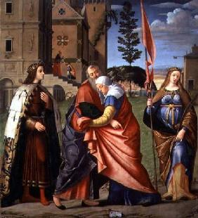 The Meeting at the Golden Gate with Saints