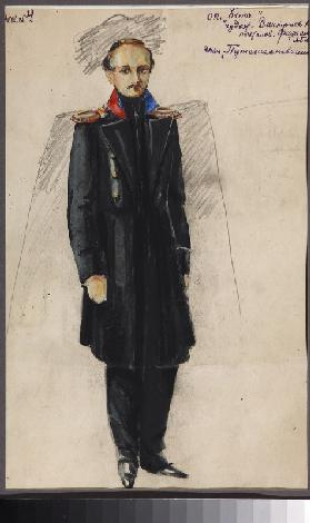 Lermontov. Costume design for the opera Béla by A. Alexandrov