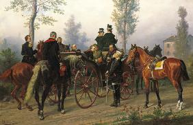 Napoleon III and Bismarck after the Battle of Sedan