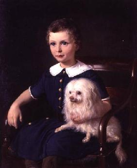 Study of a Boy with Pet Dog