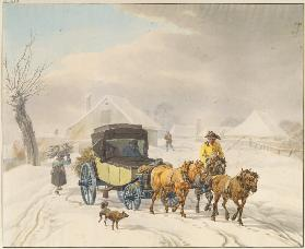 Stagecoach in Winter