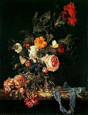Still Life with Poppies and Roses