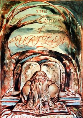 The First Book of Urizen; title page, showing Urizen (representing the embodiment of unenlightened r