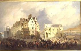 View of the Lawn Market, Edinburgh
