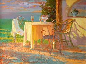 Evening Terrace, 2003 (oil on board)