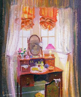 The Dressing Table (oil on board)
