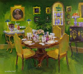 Dinner Party (oil on board)