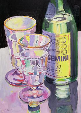 Gemini, 2005 (oil on board)