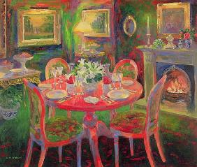 The Dining Room, c.2000 (oil on board)